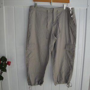 Allen Allen Cotton  Khaki Cargo Pants Large